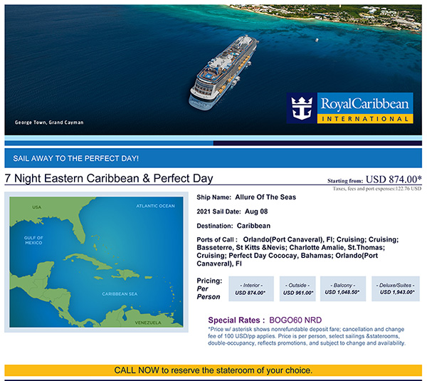 7-day Eastern Caribbean Cruise