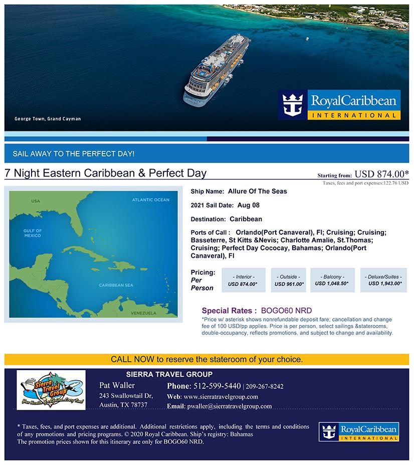 7-day Eastern Caribbean Cruise