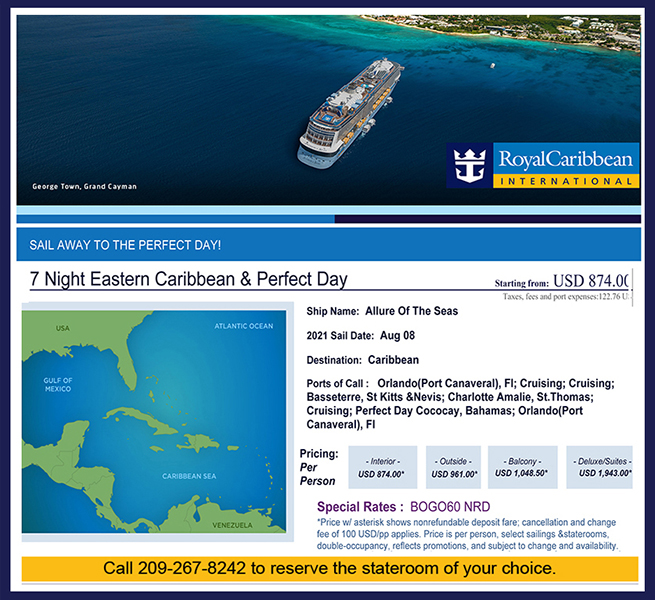 7 Night Eastern Caribbean Cruise